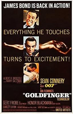 Spy Thriller Books to Movies GOLDFINGER
