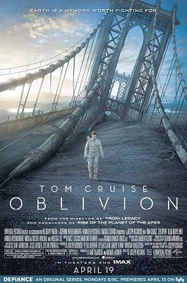 Sci-fi conspiracy thriller movies OBLIVION