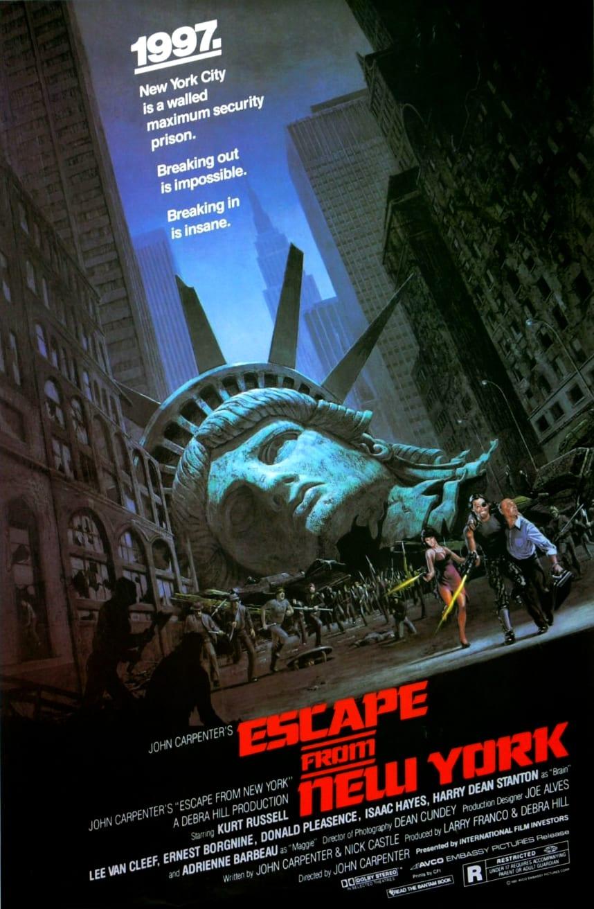 Best John Carpenter Movies ESCAPE FROM NY