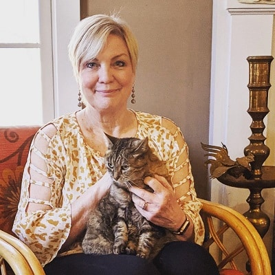 Paula Munier and her cat